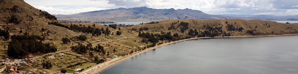 Packages with Huatajata (Lake Titicaca)