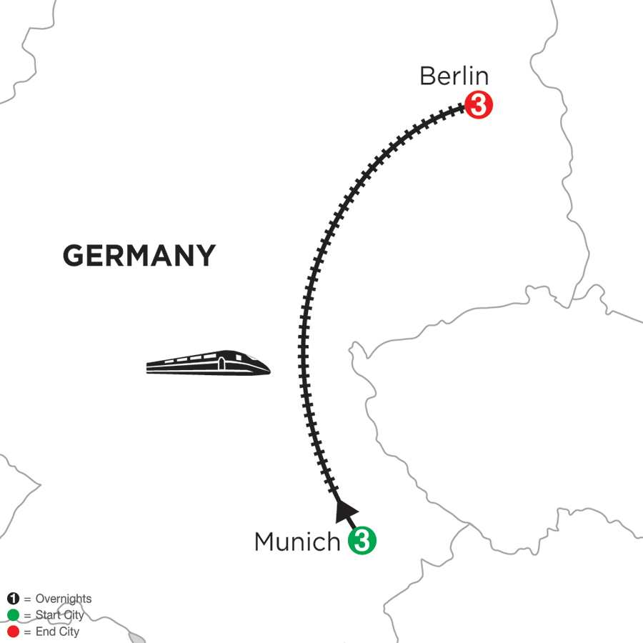 Monograms Tour Map  - Munich & Berlin