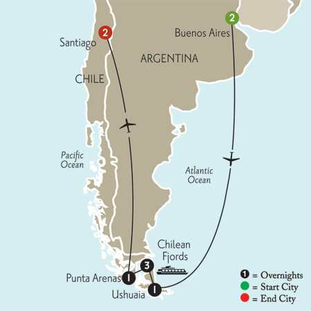 Patagonia & Chilean Fjords Vacation Package