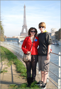 Madelyn in Paris with her family